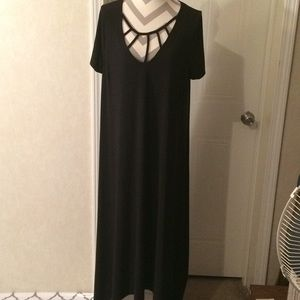 Lane Bryant black high low dress size 18/20